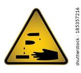 corrosive warning sign  vector   Shutterstock .eps vector #185357216