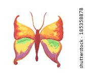 watercolor butterfly isolated... | Shutterstock .eps vector #185358878