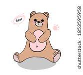 bear toy teddy happy animal   Shutterstock . vector #1853595958