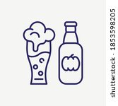 beer bottle glass vector line... | Shutterstock .eps vector #1853598205