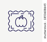 postal card stamp vector line... | Shutterstock .eps vector #1853608645
