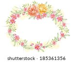 watercolor floral illustration... | Shutterstock . vector #185361356