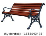 park bench isolated on white... | Shutterstock .eps vector #1853643478
