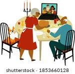 elderly black couple having a... | Shutterstock .eps vector #1853660128