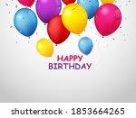 colorful birthday celebration... | Shutterstock . vector #1853664265