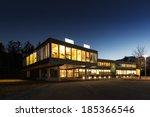ecological energy saving wooden ... | Shutterstock . vector #185366546