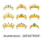 crown vector  crowns  tiara.... | Shutterstock .eps vector #1853675035