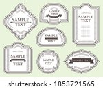 western antique frame material... | Shutterstock .eps vector #1853721565