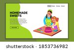 homemade sweets prepare woman... | Shutterstock .eps vector #1853736982
