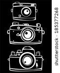 set of three vintage film photo ... | Shutterstock . vector #185377268