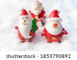santa claus on snow christmas... | Shutterstock . vector #1853790892