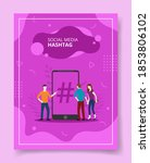 social media hashtag people...   Shutterstock .eps vector #1853806102