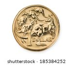 australian one dollar coin... | Shutterstock . vector #185384252