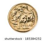 australian one dollar coin... | Shutterstock . vector #185384252