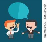 business man brainstorming | Shutterstock .eps vector #185384792
