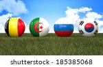 soccer ball with flag ... | Shutterstock . vector #185385068