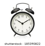 close up of alarm clock... | Shutterstock . vector #185390822
