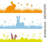 set easter background | Shutterstock .eps vector #185395295