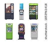 vending machines  food snacks... | Shutterstock .eps vector #1853961418