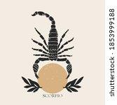 Zodiac Sign Scorpio In Boho...