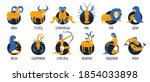 zodiac signs set original...   Shutterstock .eps vector #1854033898
