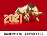 Golden volumetric paper bull...