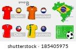 brazil soccer championchip group | Shutterstock .eps vector #185405975