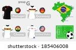 brazil soccer championship group | Shutterstock .eps vector #185406008