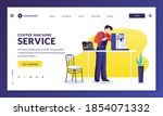 coffee machine repair service.... | Shutterstock .eps vector #1854071332