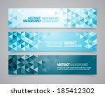 a set of vector geometric... | Shutterstock .eps vector #185412302