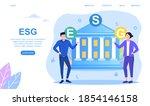 esg. concept of environmental ... | Shutterstock .eps vector #1854146158
