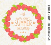summer illustration beautiful... | Shutterstock .eps vector #185414885
