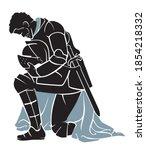 Knight Kneeling  Medieval Armor ...