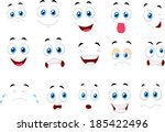 cartoon of various face... | Shutterstock . vector #185422496