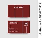 business card template. mock up ... | Shutterstock .eps vector #1854228355