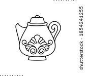 teapot  porcelain vector icon... | Shutterstock .eps vector #1854241255