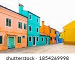 Burano Island  Venice  Italy....