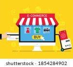 e commerce and online shopping... | Shutterstock .eps vector #1854284902