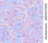 paisley vector seamless pattern.... | Shutterstock .eps vector #1854317035