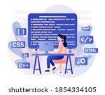 programming and engineering...   Shutterstock .eps vector #1854334105
