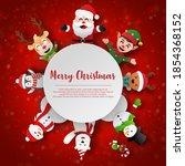 paper art christmas themed ...   Shutterstock .eps vector #1854368152