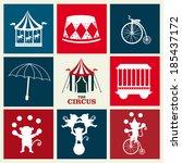 circus design over beige... | Shutterstock .eps vector #185437172