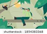 explorers  travelers in the... | Shutterstock .eps vector #1854383368
