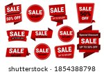 collection of sale discount... | Shutterstock .eps vector #1854388798