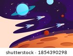 horizontal space background... | Shutterstock .eps vector #1854390298
