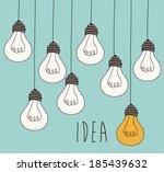 bulb design over blue... | Shutterstock .eps vector #185439632