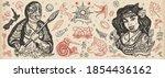 new zealand. old school tattoo... | Shutterstock .eps vector #1854436162
