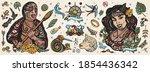 new zealand. old school tattoo... | Shutterstock .eps vector #1854436342