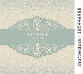 wedding invitation cards ... | Shutterstock .eps vector #185446988