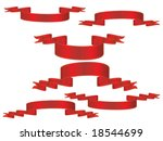 banners in red | Shutterstock .eps vector #18544699